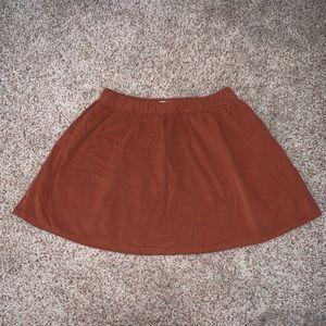 forever 21 burnt orange corduroy mini skirt